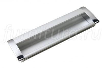 Ручка мебельная 128 мм хром/сатиновый хром